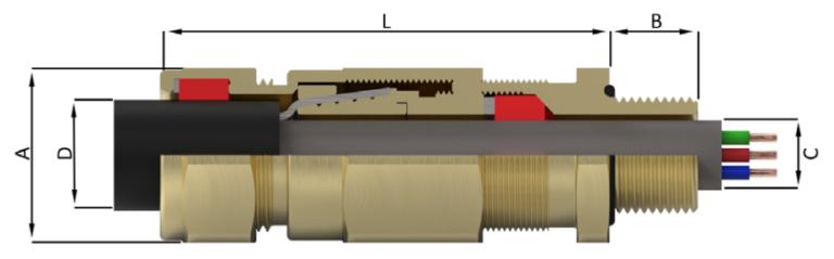(Двойное регулируемое уплотнение для всех типов бронированого кабеля уникальная запатентованная ситема зажима брони CROCLOCK®)