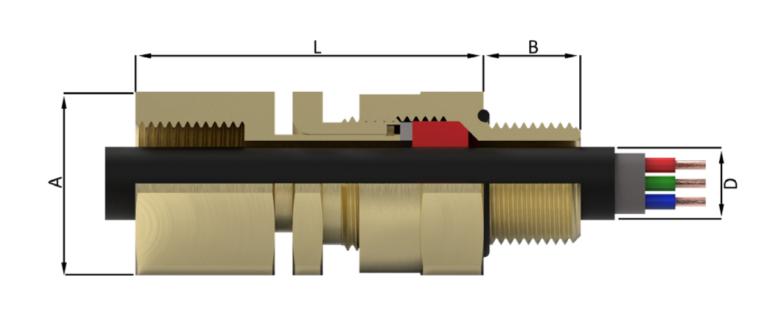 Одинарное регулируемое уплотнение по внешней оболочке со свободно вращающимся соединением с внутренней резьбой для крепления трубопровода