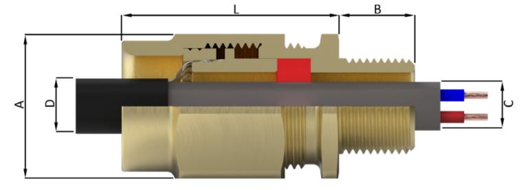 Кабельный ввод типа D8X