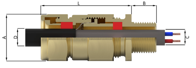 Кабельный ввод типа E8X