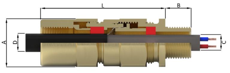 Кабельный ввод типа E8XCF