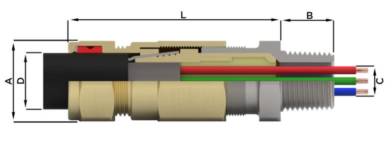 Кабельный ввод типа UL-C